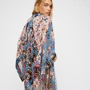 Free People Little Wing Slate Kimono NWT